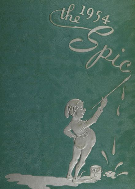 1954 Owosso High School Yearbook Cover