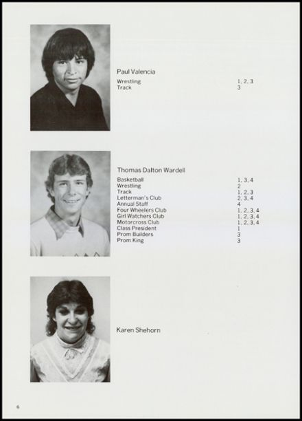 1984 Creede High School Yearbook Page 8