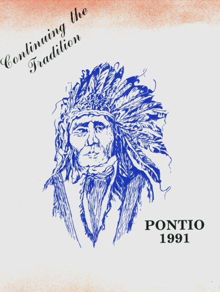 1991 Pontiac Township High School Yearbook Cover