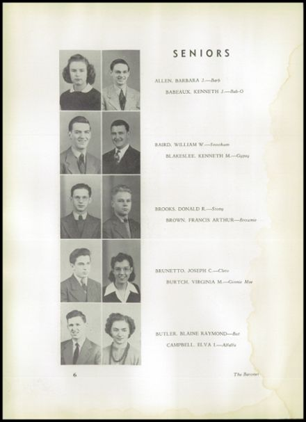 1943 Johnstown High School Yearbook Page 8