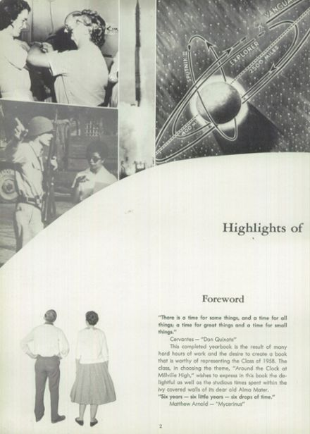 1958 Millville Area High School Yearbook Page 6
