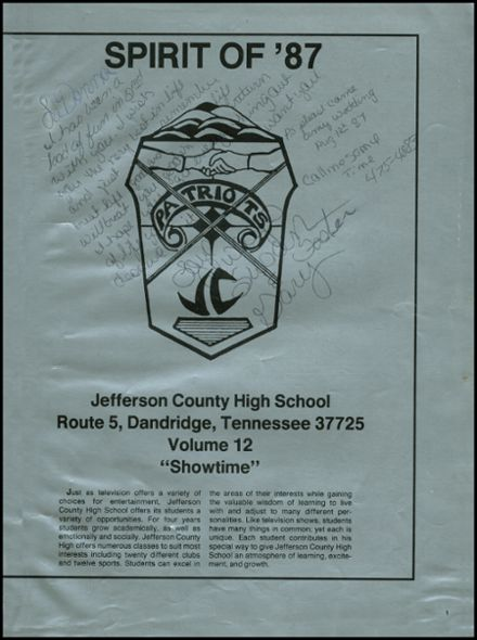 1987 Jefferson County High School Yearbook Page 5