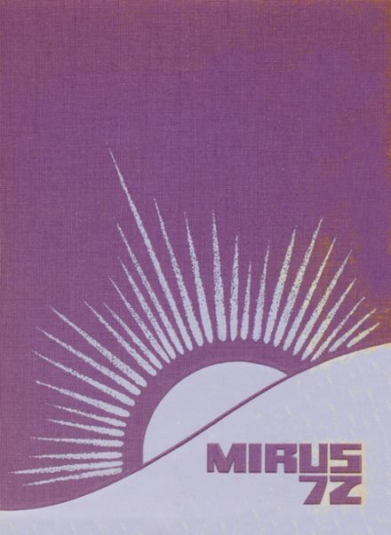 1972 Miamisburg High School Yearbook Cover