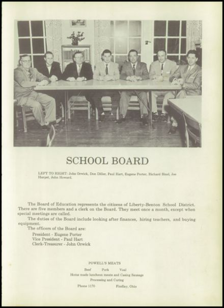 Explore 1957 Liberty Benton High School Yearbook, Liberty OH