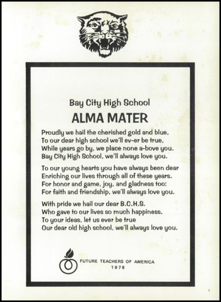 1979 Bay City High School Yearbook Page 5