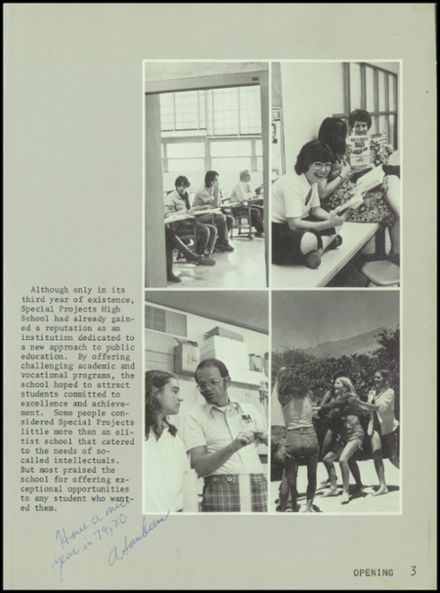 1979 Special Projects High School Yearbook Page 7