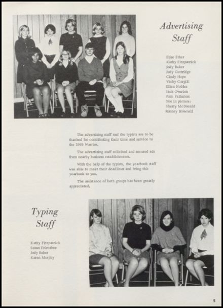 1969 Stillwater High School Yearbook Page 9