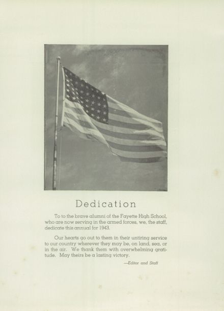 1943 Fayette High School Yearbook Page 7
