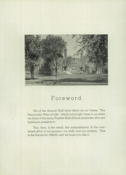 1943 Fayette High School Yearbook Page 8