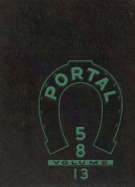 1958 Richland High School Yearbook Cover