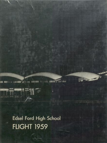 1959 Edsel Ford High School Yearbook Cover