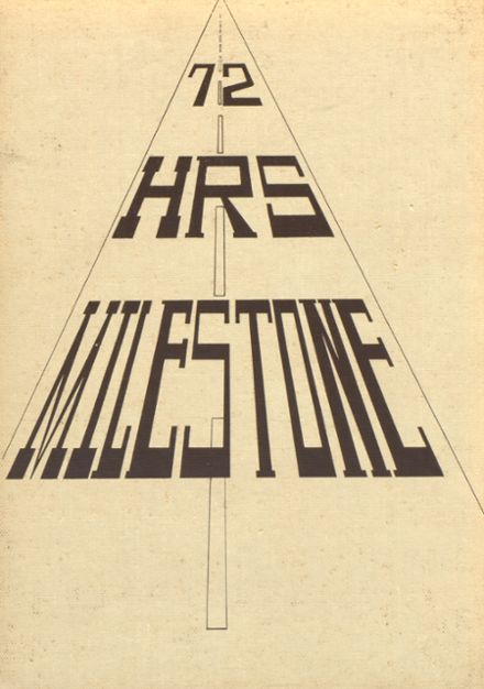 1972 Human Resources High School Yearbook Cover