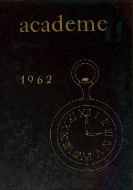 1962 Academy High School Yearbook Cover