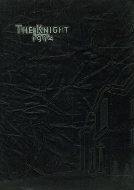 1934 Collingswood High School Yearbook Cover