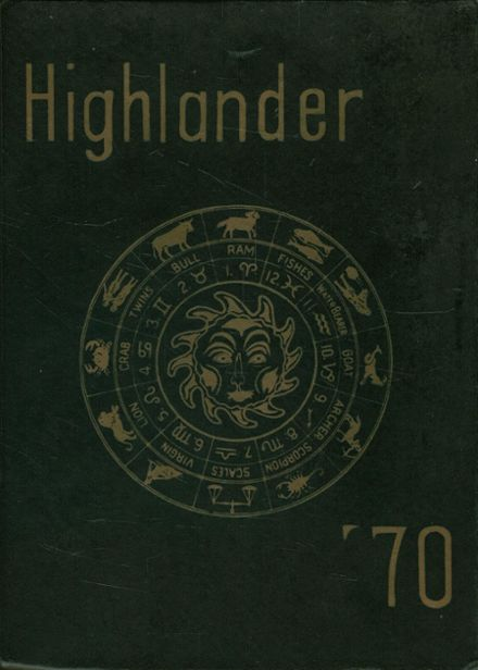 1970 Highlands High School Yearbook Cover