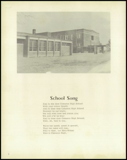 1957 Cameron High School Yearbook Page 6