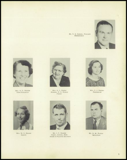 1957 Cameron High School Yearbook Page 9
