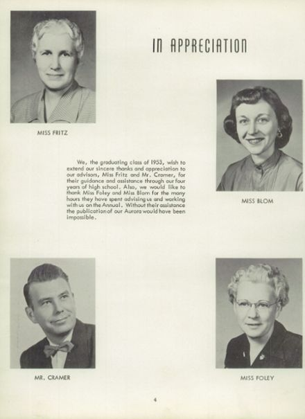 1953 Rice Lake High School Yearbook Page 8