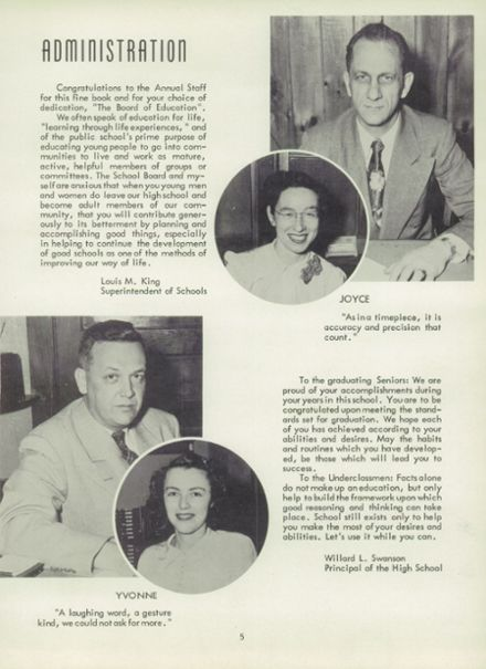 1953 Rice Lake High School Yearbook Page 9