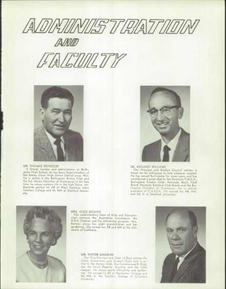 1963 Burlingame High School Yearbook Page 9