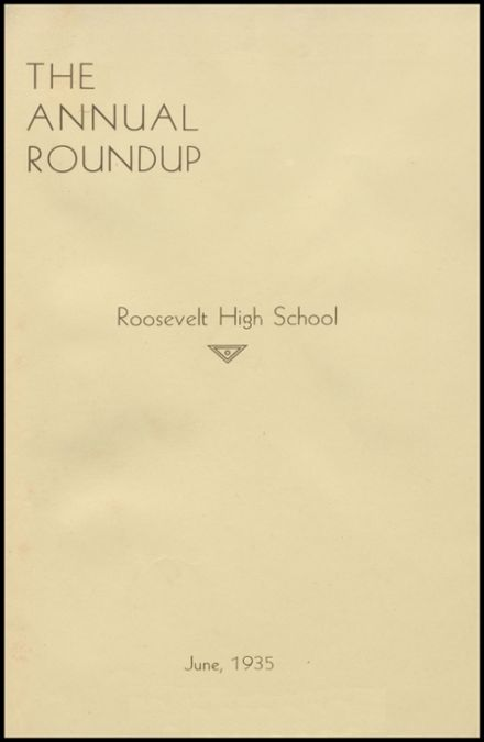 1935 Roosevelt High School Yearbook Page 5