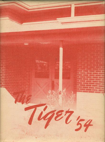 1954 Troup High School Yearbook Cover