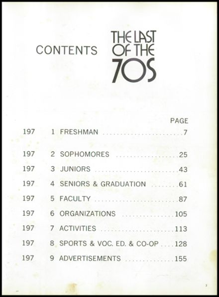 1979 Cheboygan High School Yearbook Page 7