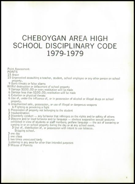 1979 Cheboygan High School Yearbook Page 9
