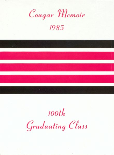 1985 Charleroi High School Yearbook Cover
