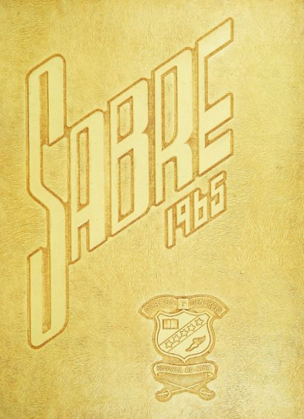 1965 Gordon High School Yearbook Cover