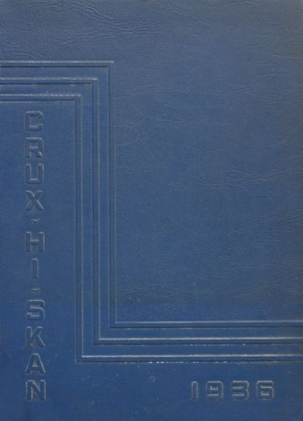 1936 Crooksville High School Yearbook Cover