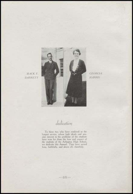 1938 Arlington High School Yearbook Page 6
