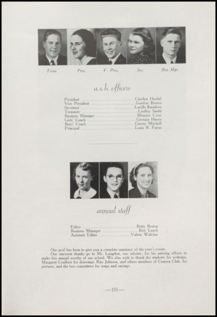 1938 Arlington High School Yearbook Page 9