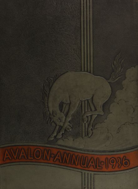 1936 Avalon High School Yearbook Cover