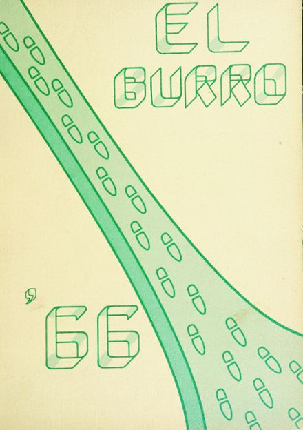 1966 Burroughs High School Yearbook Cover