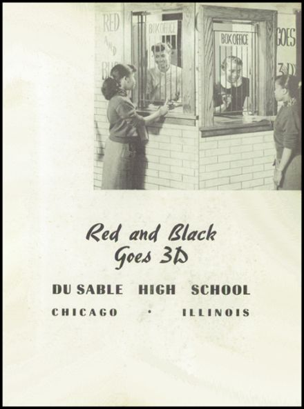 1954 Dusable High School Yearbook Page 3