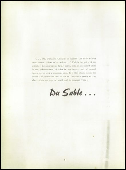 1954 Dusable High School Yearbook Page 8