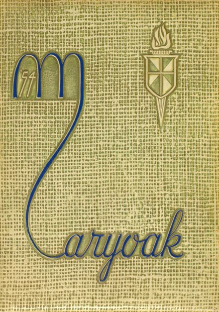 1954 St. Mary's High School Yearbook Cover