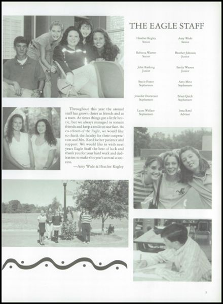 1998 Florence High School Yearbook Page 7