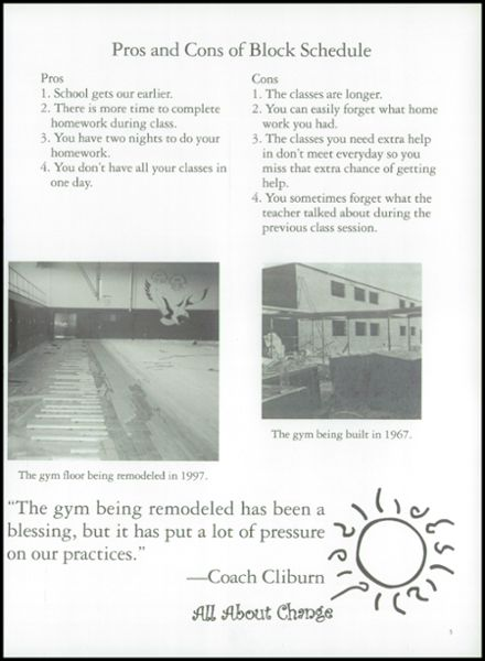 1998 Florence High School Yearbook Page 9