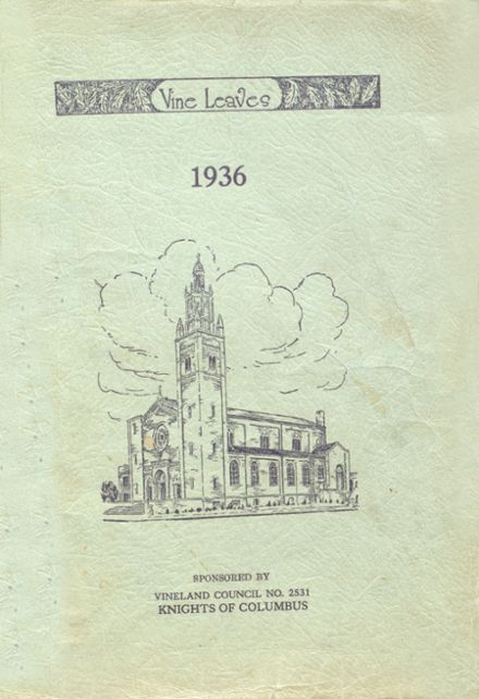 1936 Sacred Heart High School Yearbook Cover