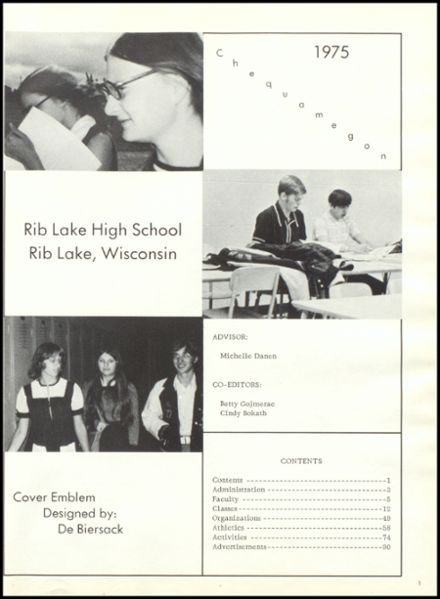 1975 Rib Lake High School Yearbook Page 5