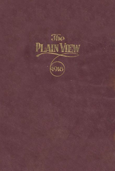 1918 Plainview High School Yearbook Cover
