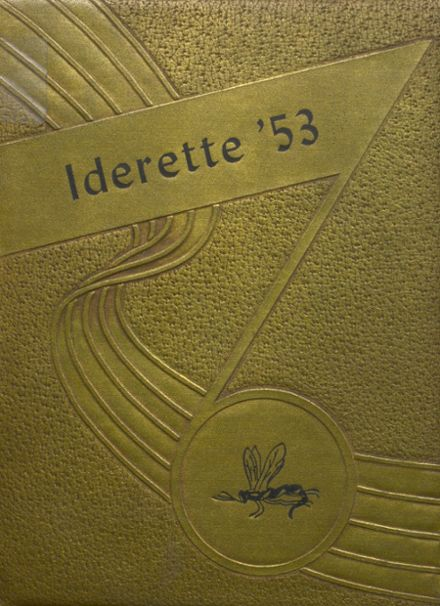 1953 Ider High School Yearbook Cover