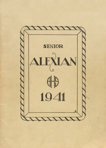 1941 Central High School Yearbook Cover