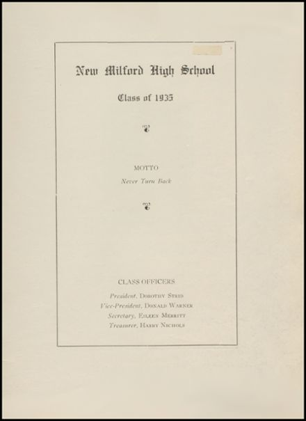1935 New Milford High School Yearbook Page 3