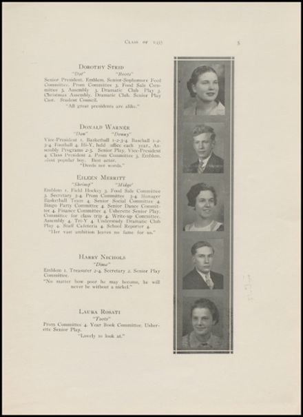 1935 New Milford High School Yearbook Page 7