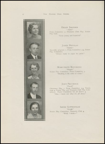 1935 New Milford High School Yearbook Page 8