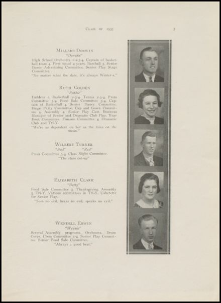 1935 New Milford High School Yearbook Page 9