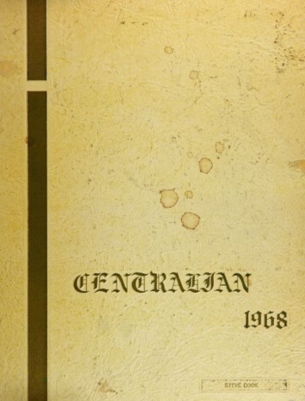 1968 Central High School Yearbook Cover